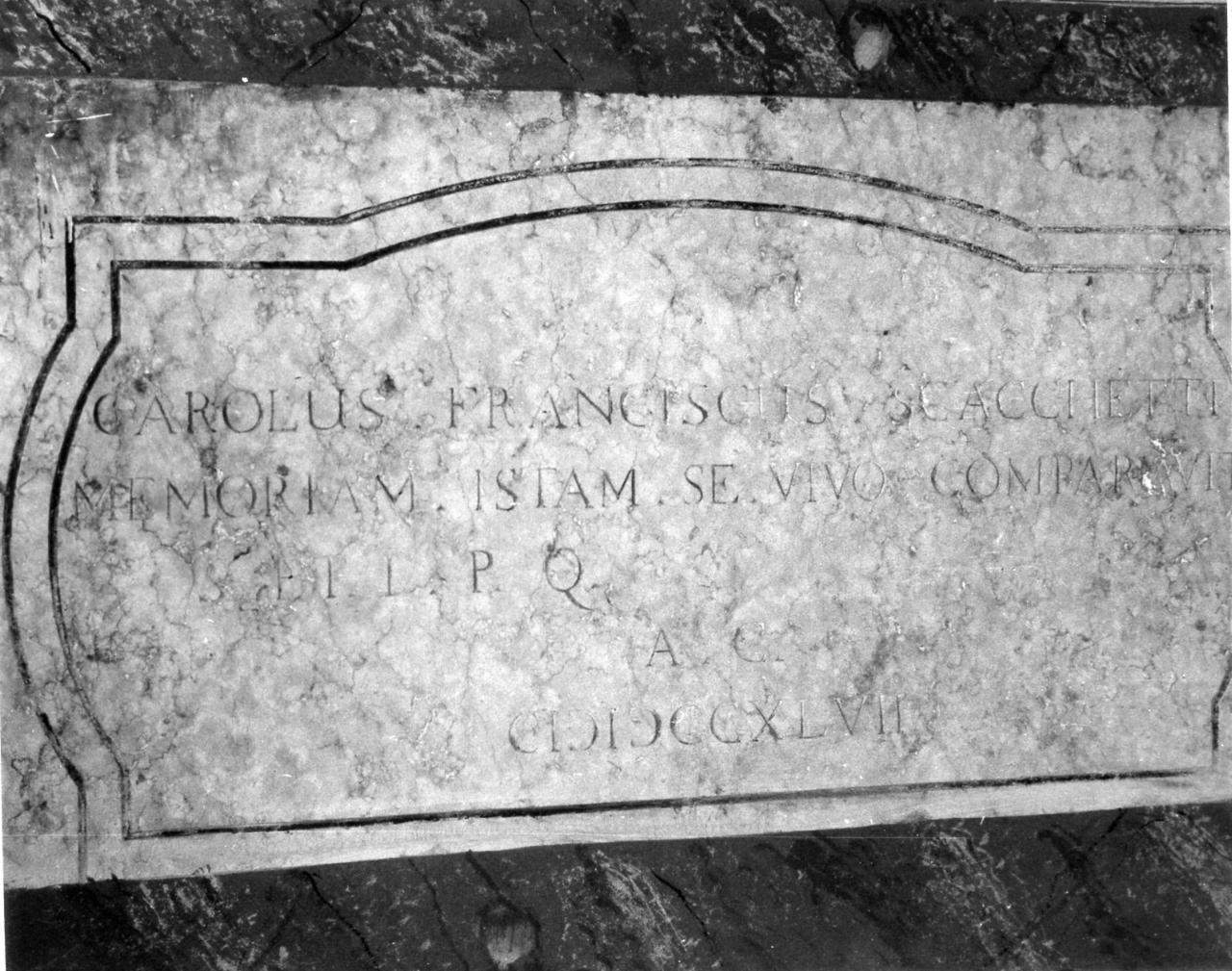 lapide tombale - bottega carpigiana (secondo quarto sec. XVIII)