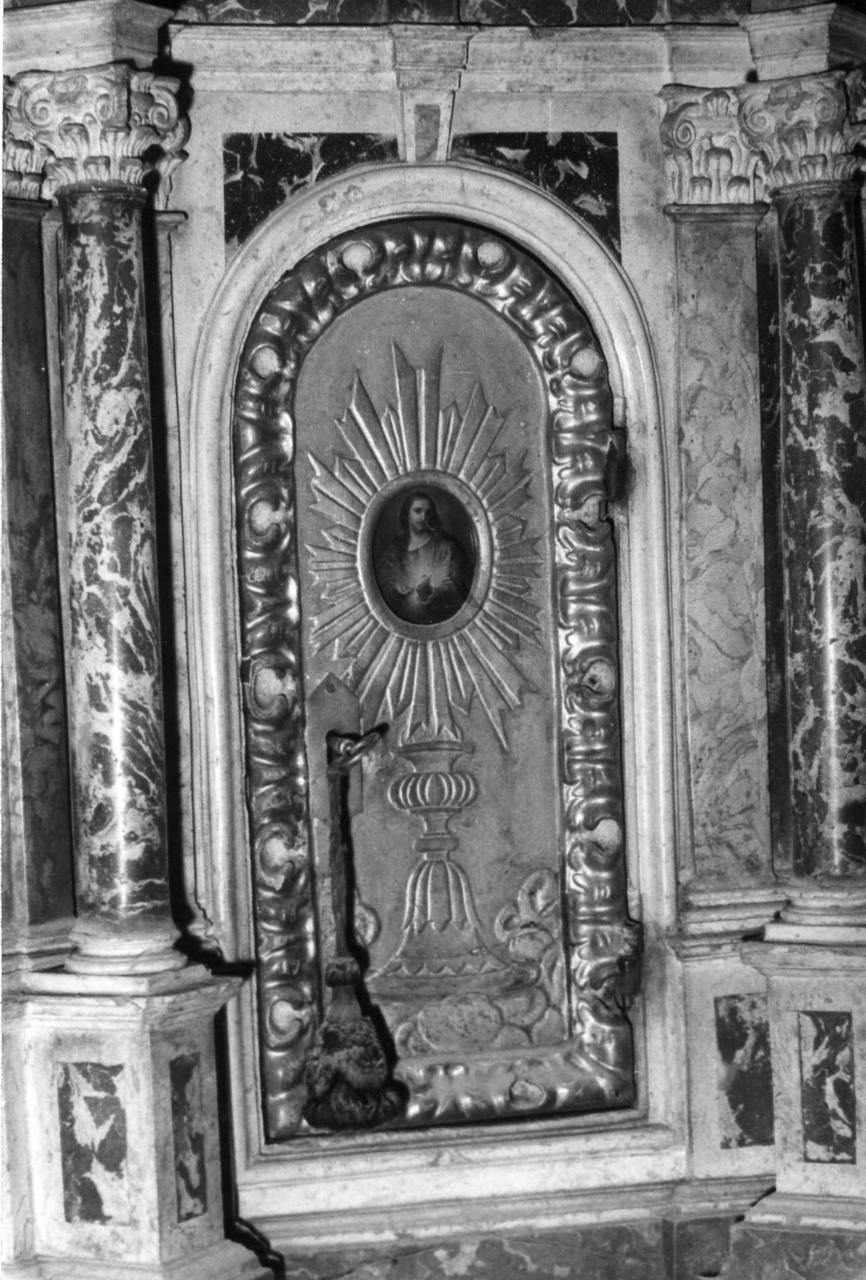 ostensorio (sportello di tabernacolo) - bottega carpigiana (seconda metà sec. XVII)