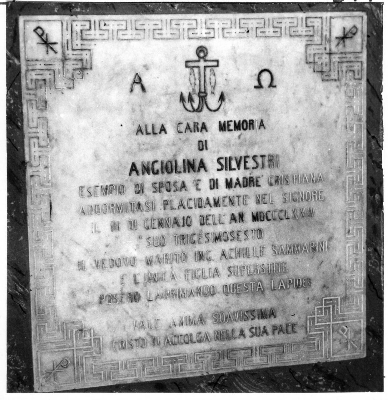 lapide tombale - bottega carpigiana (sec. XIX)