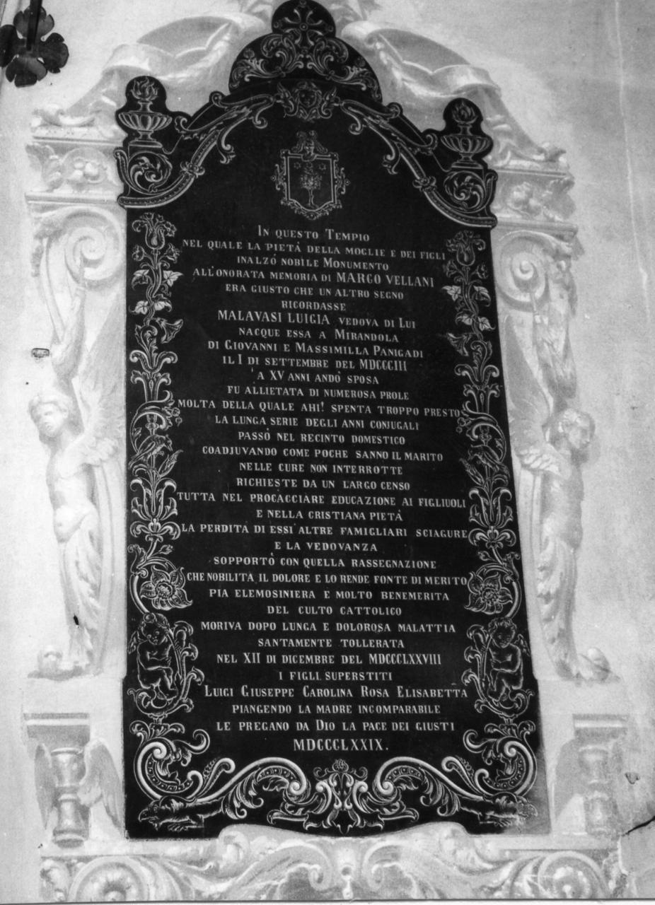 lapide tombale - bottega modenese (sec. XIX)