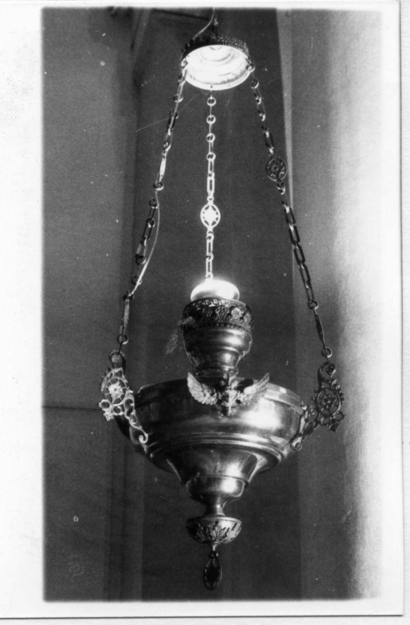 lampada pensile, serie - bottega italiana (seconda metà sec. XIX)