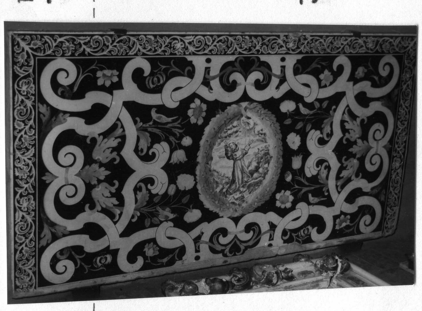 San Francesco d'Assisi riceve le stimmate (paliotto) - bottega emiliana (fine sec. XVII)