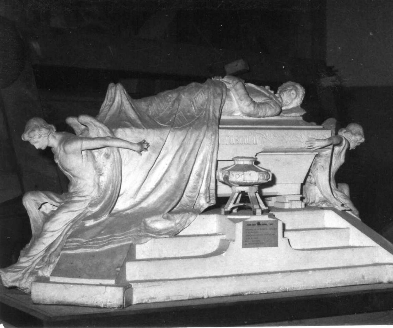 modello del monumento ad Ugo Foscolo (scultura) di Barbieri Anacleto (inizio sec. XX)