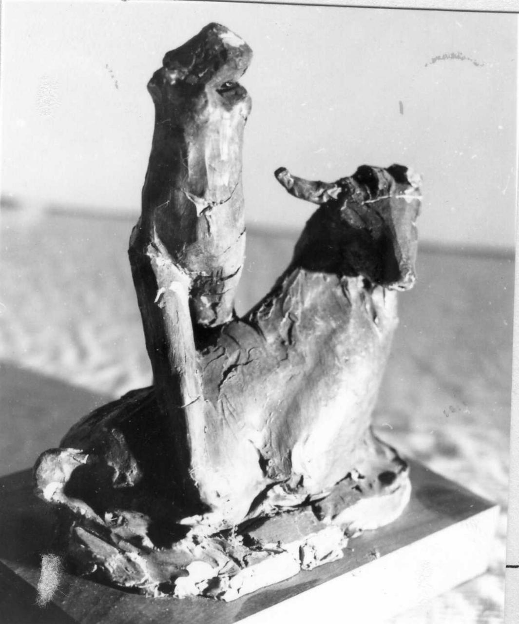 donna con toro (scultura) di Martini Arturo (sec. XX)