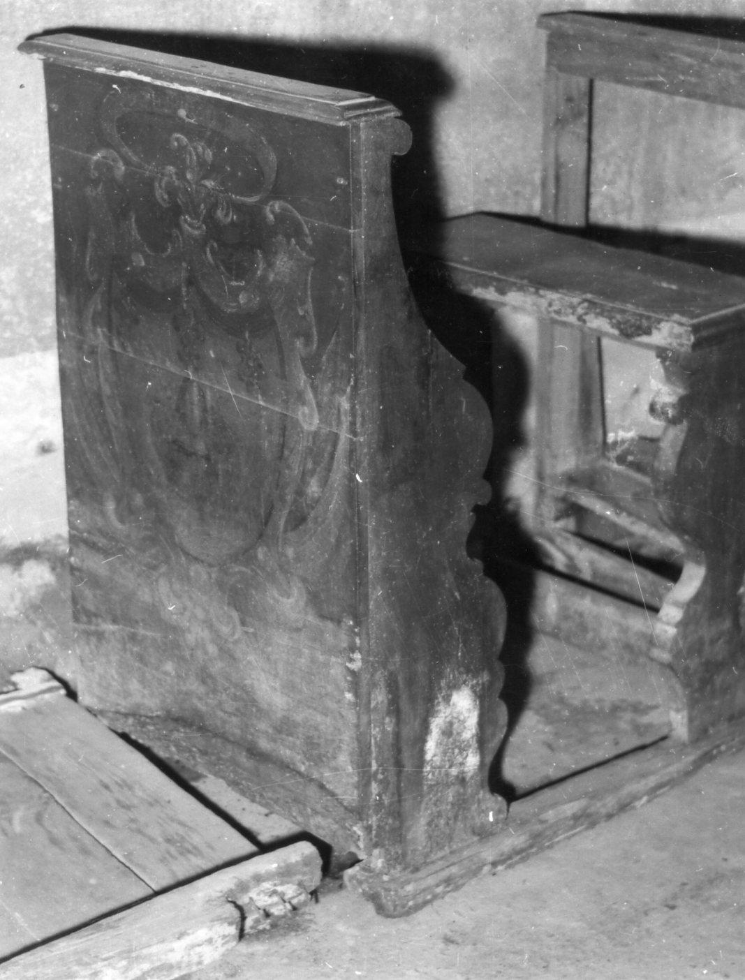 banco da chiesa - bottega modenese (metà sec. XVIII)
