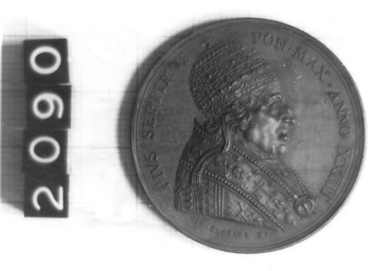 medaglia di Mercandetti Tommaso, Cerbara Giuseppe (sec. XIX d.C)