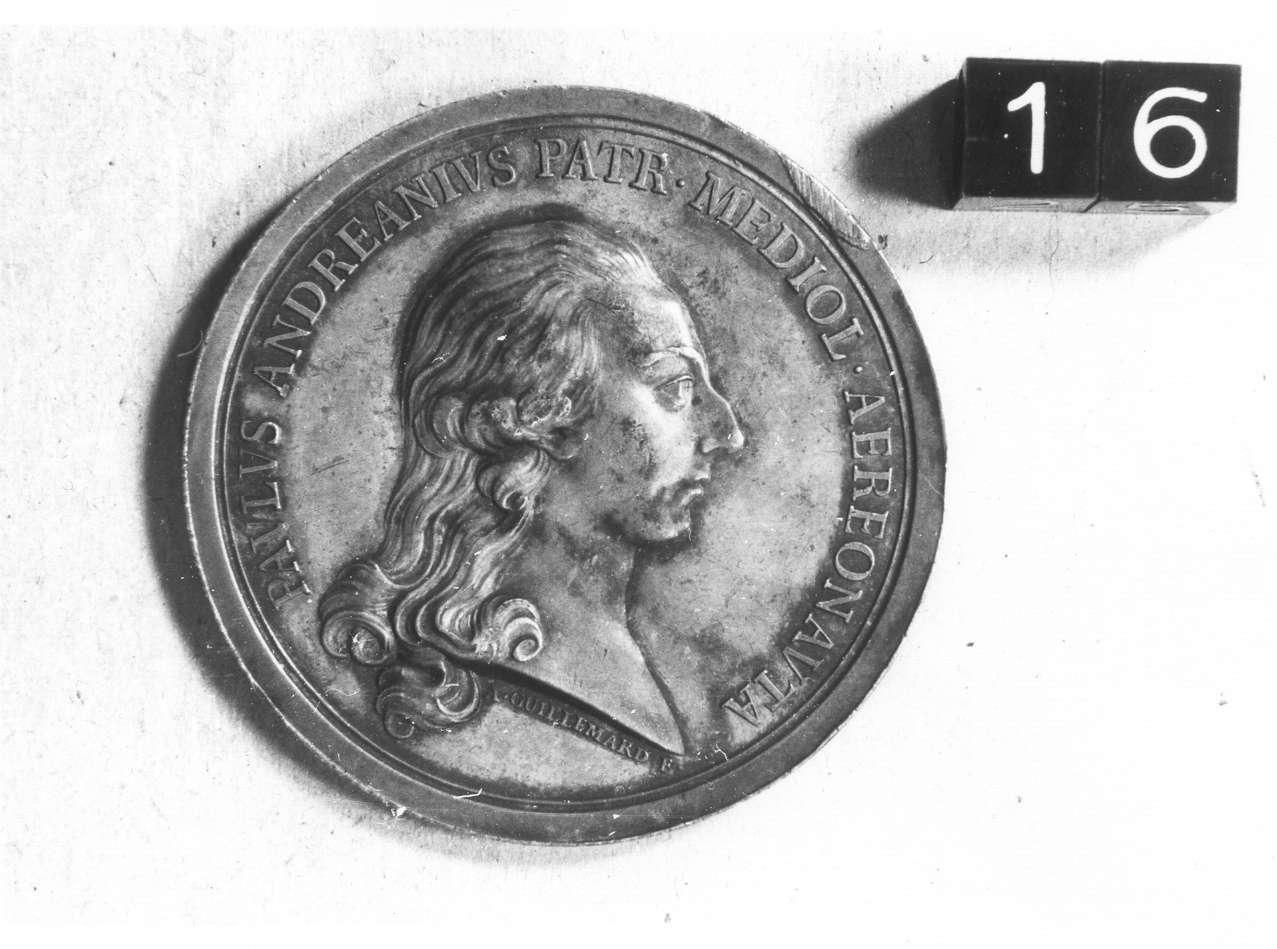 medaglia di Guillemard Anton (ultimo quarto sec. XVIII d.C)