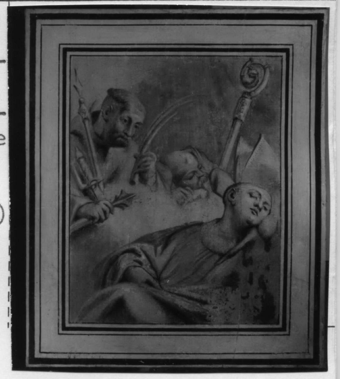 visione di un frate (dipinto) di Solieri Giuseppe detto Fra' Stefano da Carpi (metà sec. XVIII)