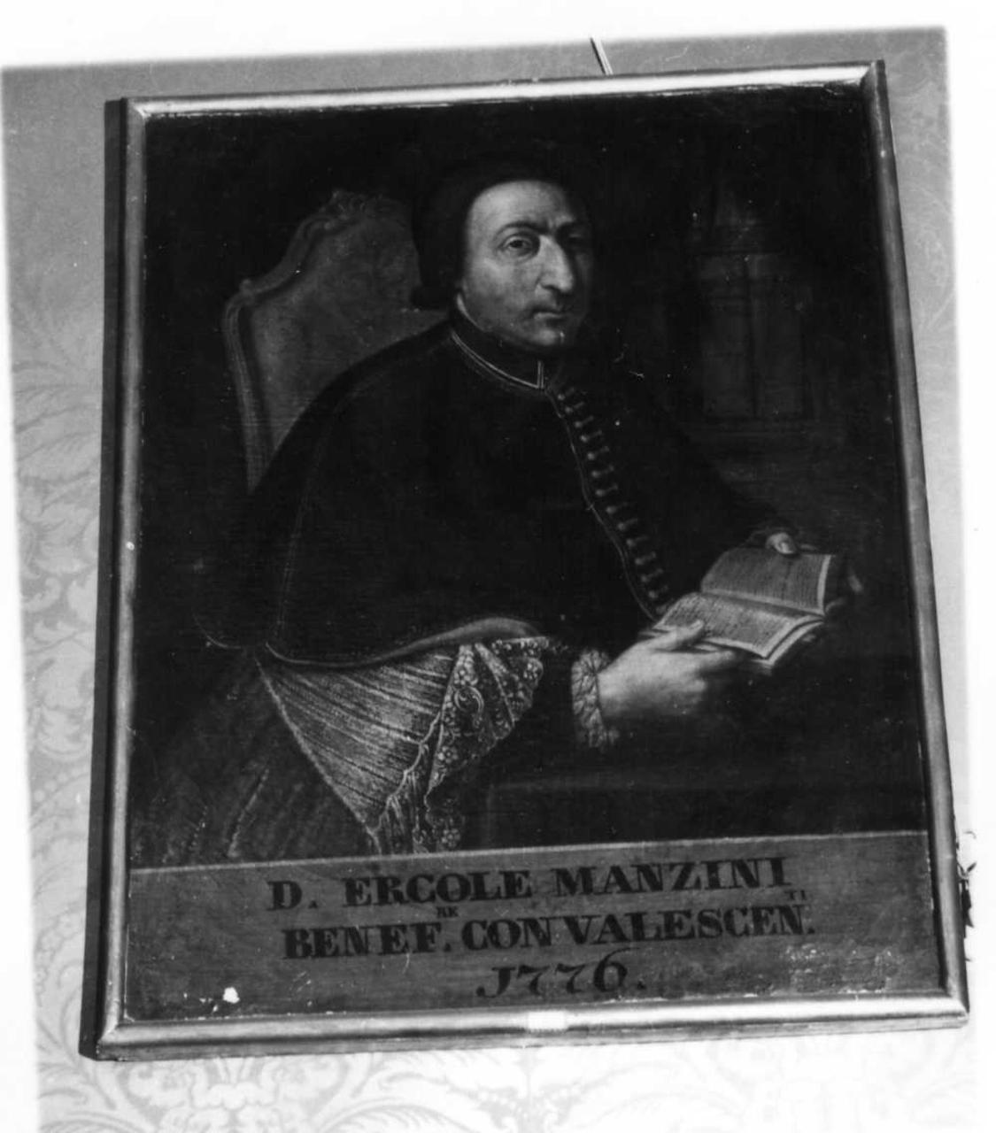 Don Ercole Manzini (dipinto) - ambito modenese (seconda metà sec. XVIII)