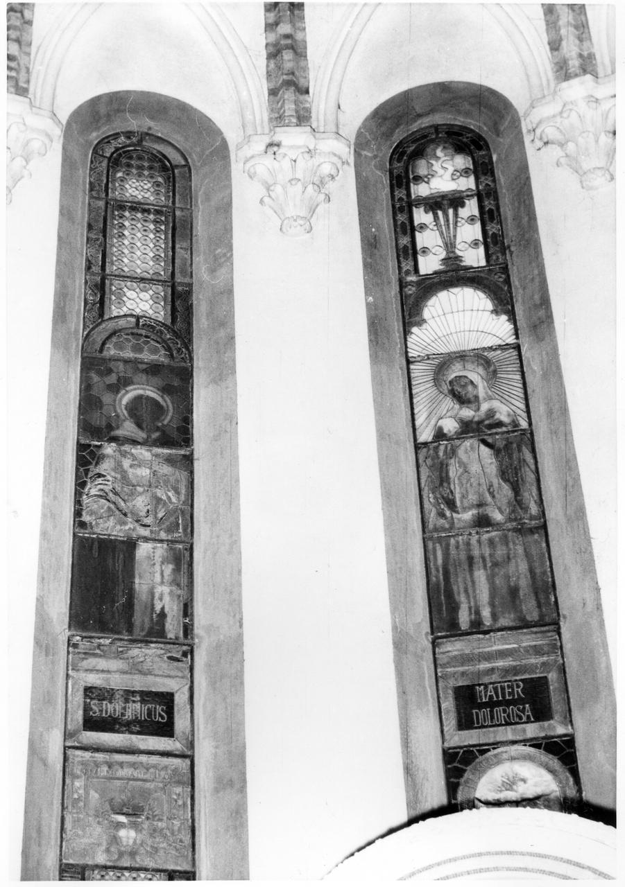 San Domenico (vetrata) - bottega modenese (secondo quarto sec. XX)