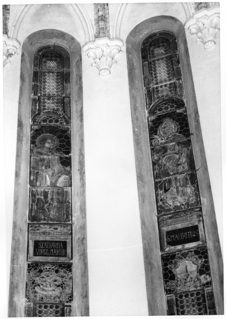 San Maurizio (vetrata) - bottega modenese (secondo quarto sec. XX)
