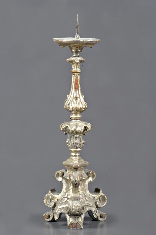 candeliere d'altare, opera isolata - bottega emiliana (seconda metà sec. XVIII)