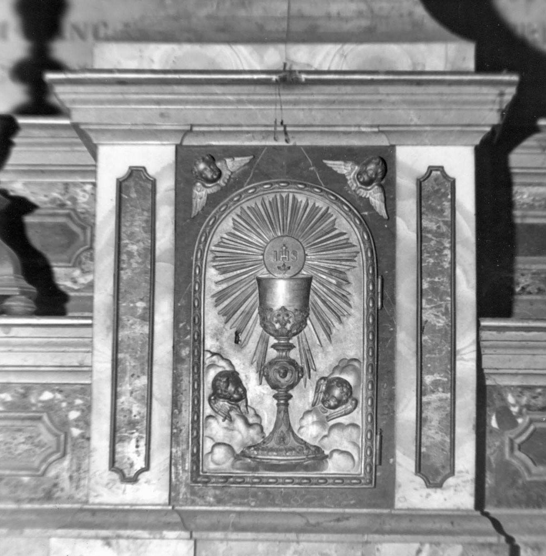 tabernacolo - a frontale architettonico - bottega emiliana (sec. XIX)