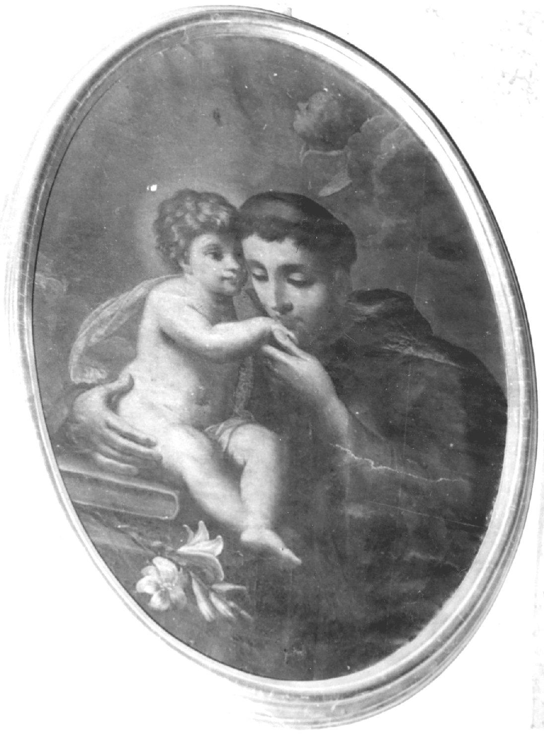 Sant'Antonio da Padova con il bambino (dipinto) di Donnini Girolamo (prima metà sec. XVIII)