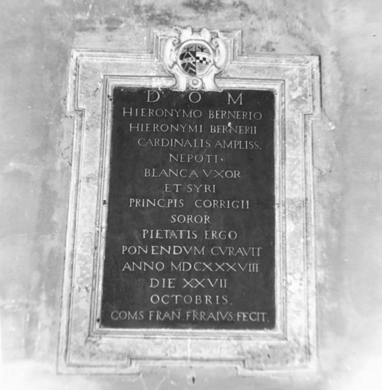 lapide tombale - bottega emiliana (sec. XVII)