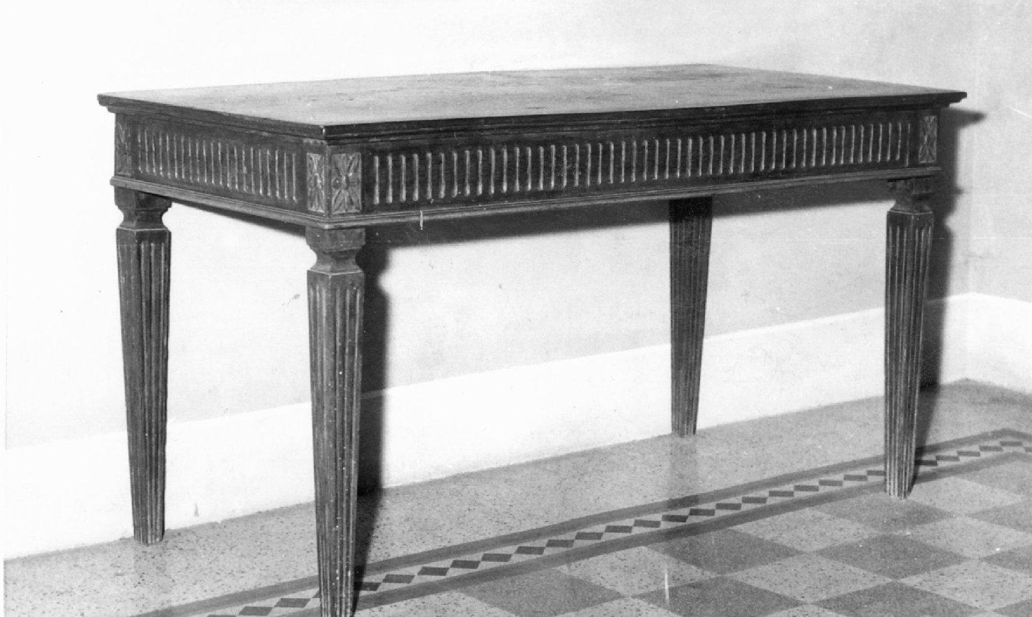 tavolo, coppia - bottega emiliana (sec. XIX)