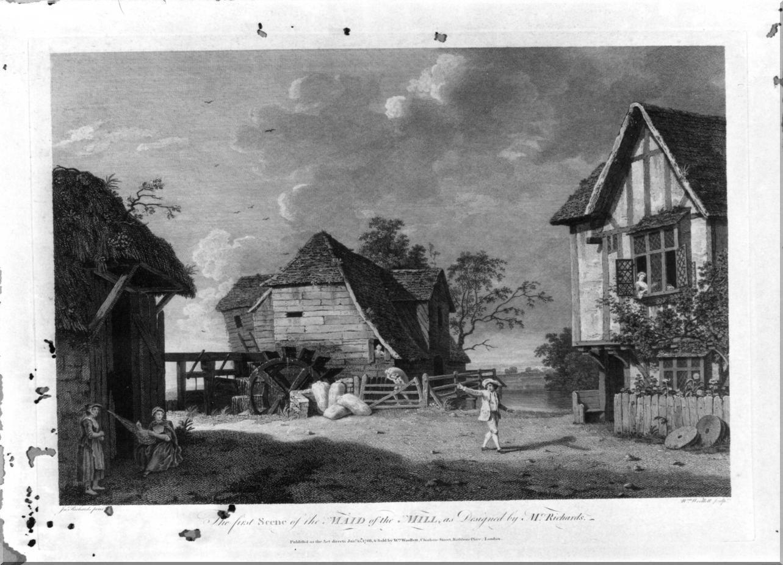 scena campestre con figure (stampa) di Richards John Inigo, Woollett William (sec. XVIII)