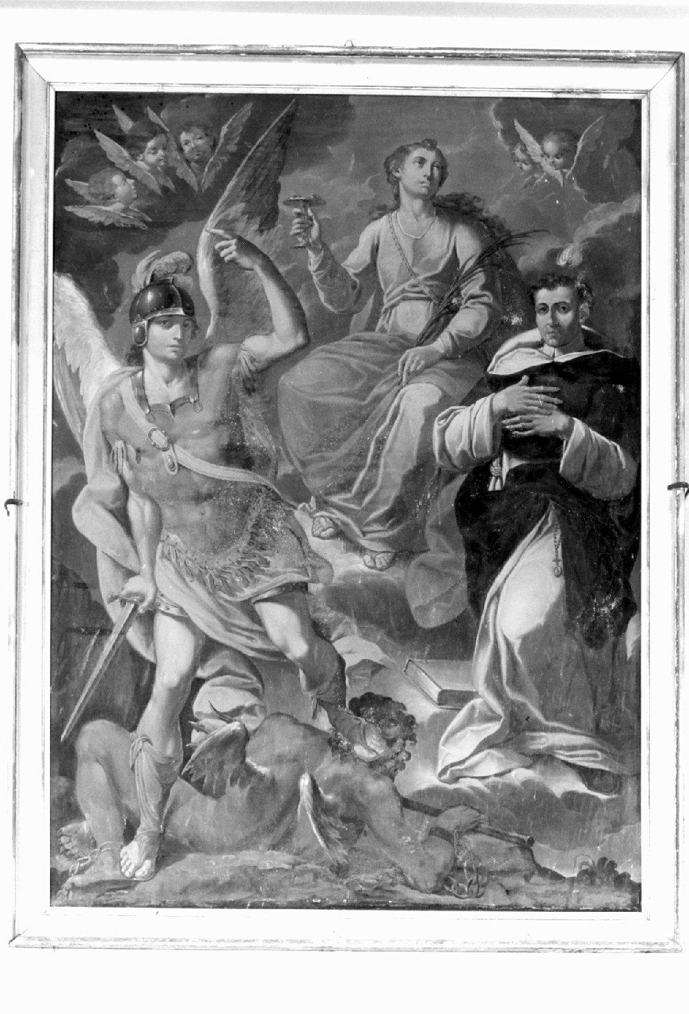 San Michele Arcangelo, Santa Lucia e San Vincenzo Ferrer (dipinto) - ambito modenese (prima metà sec. XVIII)