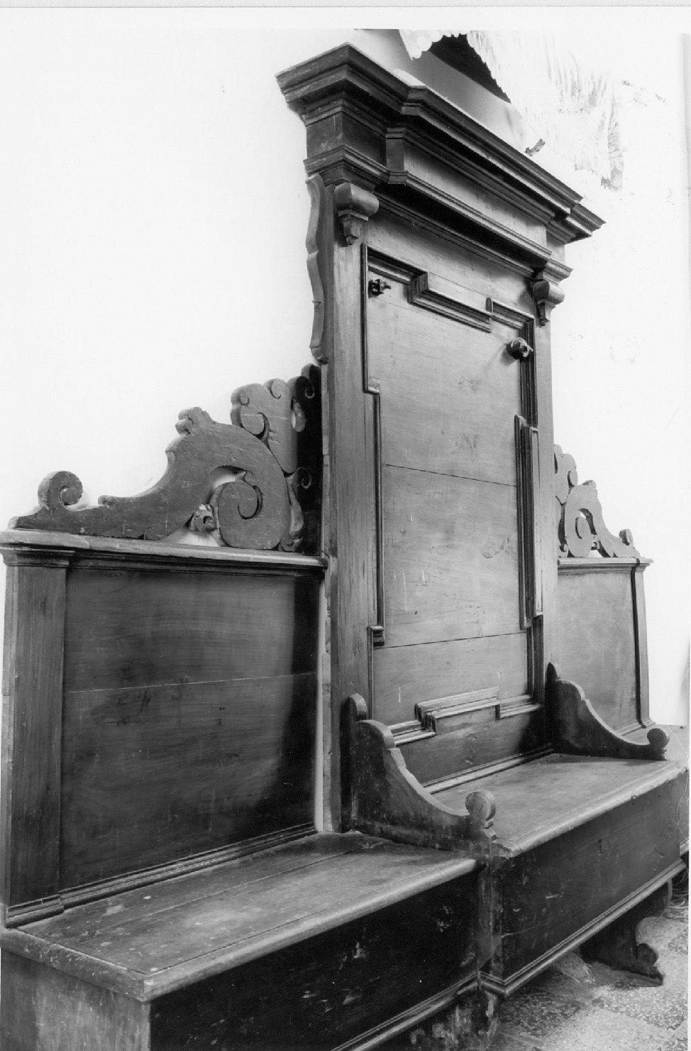 cattedra da sacrestia - manifattura emiliana (inizio sec. XVIII)