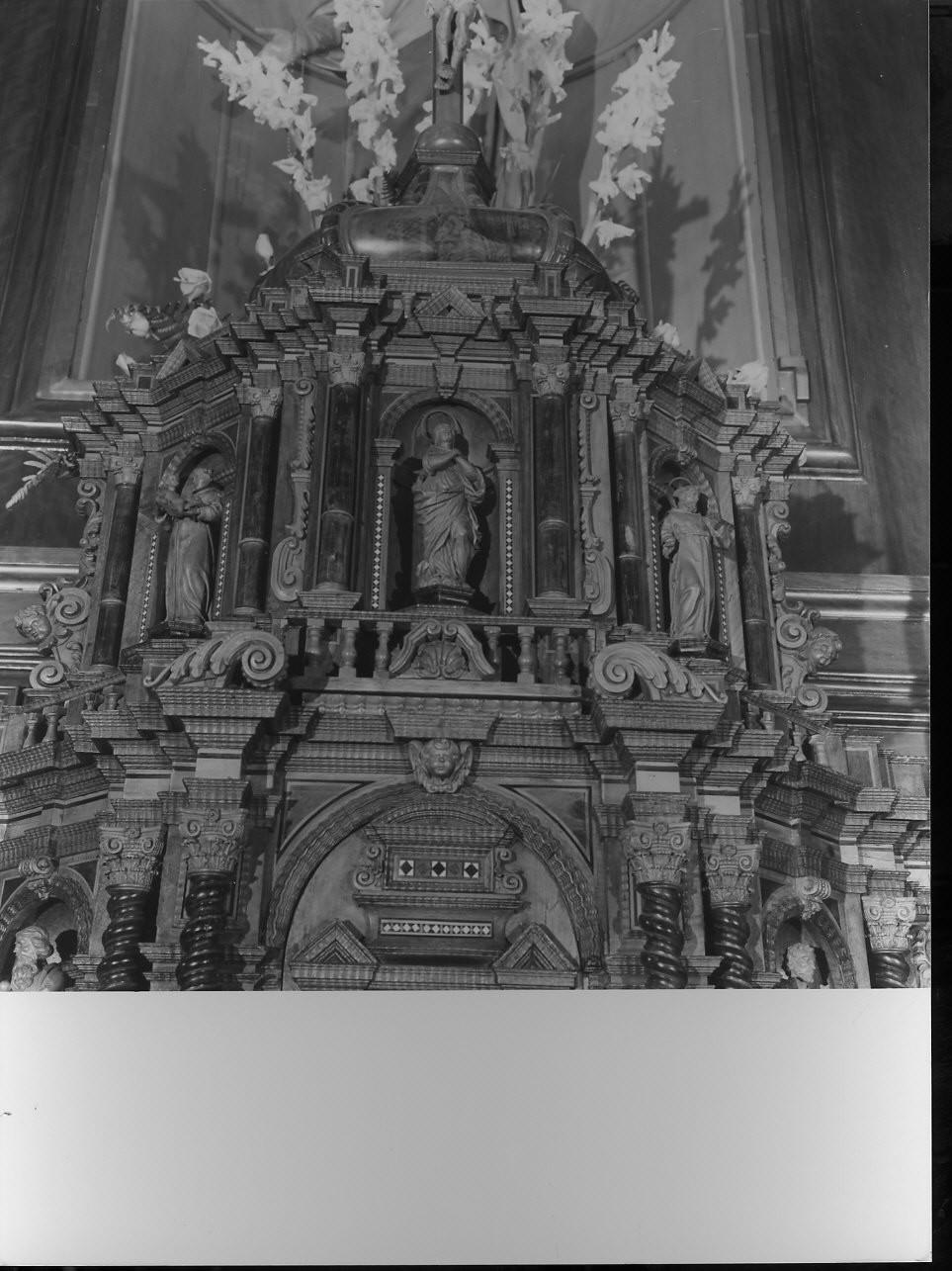 Madonna Immacolata e Santi (statua, serie) - bottega ligure (sec. XIX)