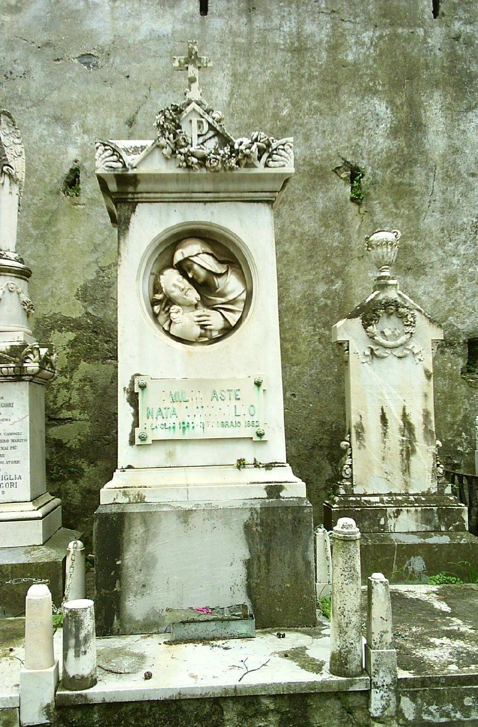 Pietà (monumento funebre - a tempietto, opera isolata) - ambito ligure (fine sec. XIX)