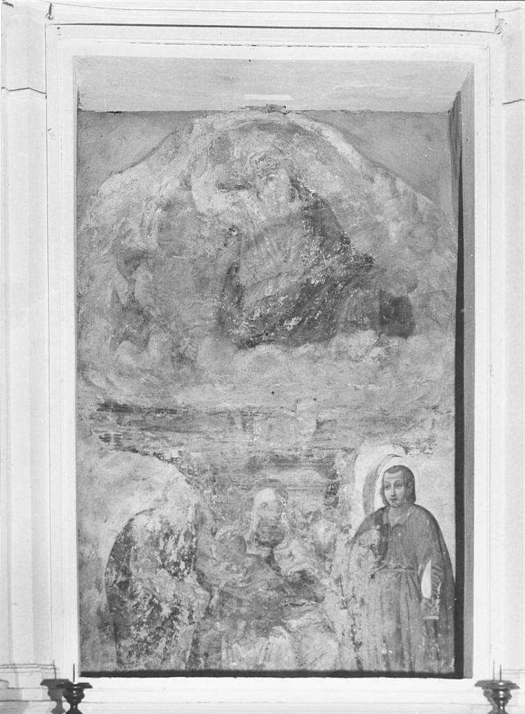 Madonna con Bambino e Santi (dipinto) - ambito umbro-laziale (secc. XVI/ XVII)