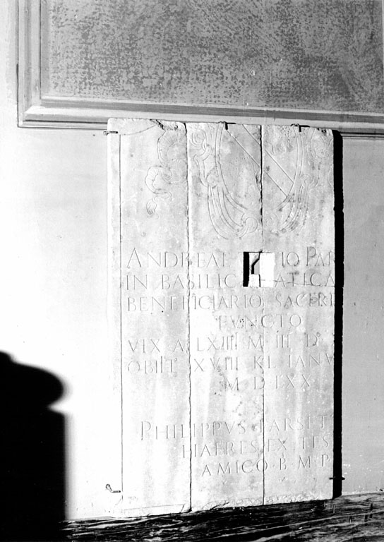 lapide tombale - ambito romano (sec. XVI)