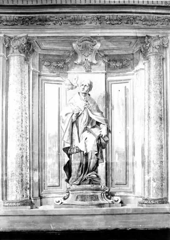 san Gregorio Magno, san Benedetto, santa Gertrude, san Bernardo, santa Scolastica (dipinto) - ambito romano (sec. XIX)