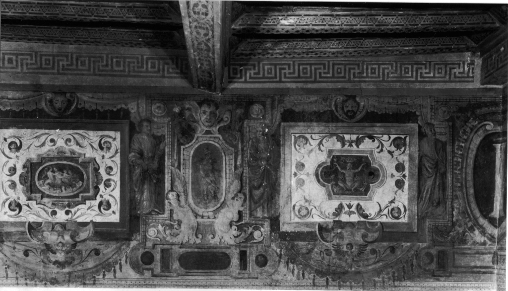 fregio (decorazione pittorica, complesso decorativo) di Zuccari Taddeo (bottega) (sec. XVI)