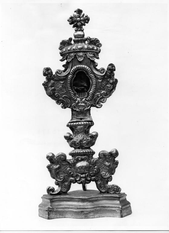 reliquiario - a ostensorio - manifattura romana (primo quarto sec. XVIII)
