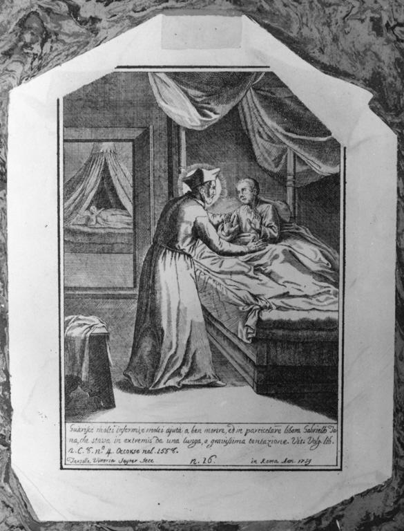 San Filippo Neri (lastra, serie) di Seyter Tarsilla Vittoria (sec. XVIII)