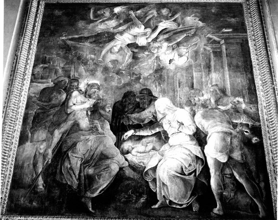 adorazione dei pastori (dipinto) di Franco Battista detto Semolei (sec. XVI)