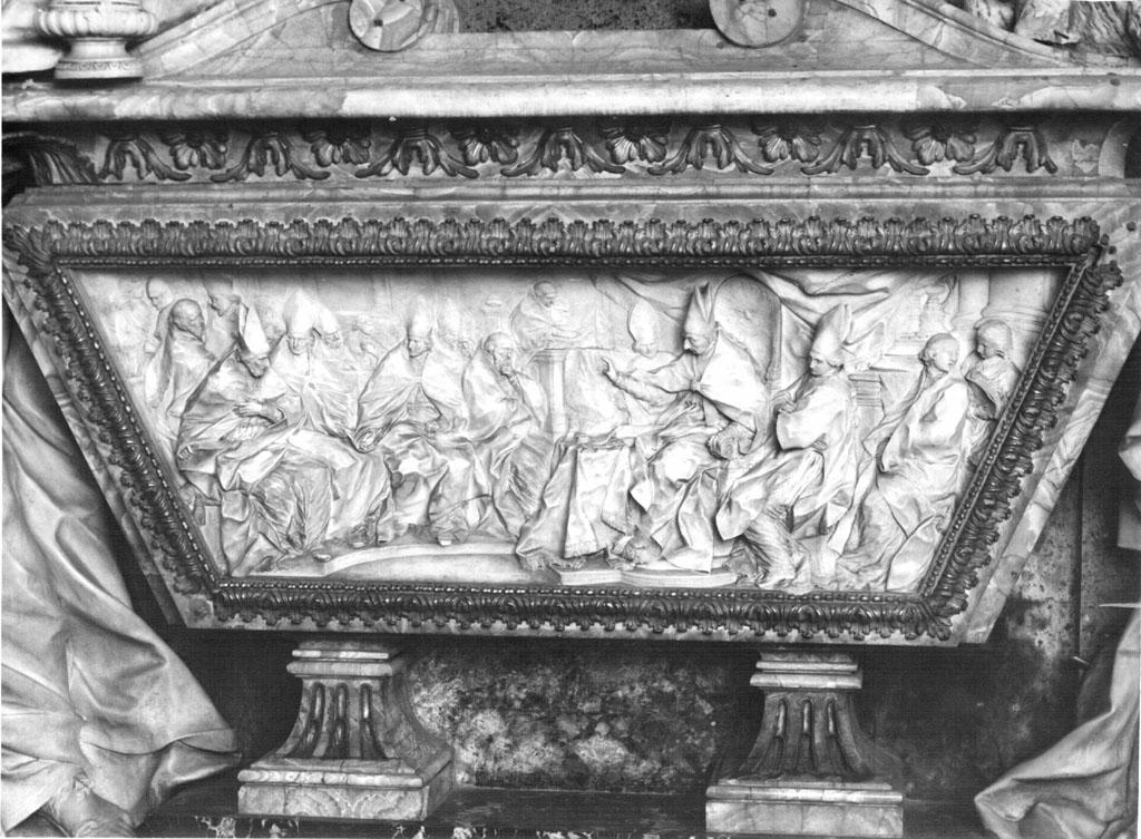 Il Concilio presieduto da Benedetto XIII (rilievo) di Marchionni Carlo (sec. XVIII)