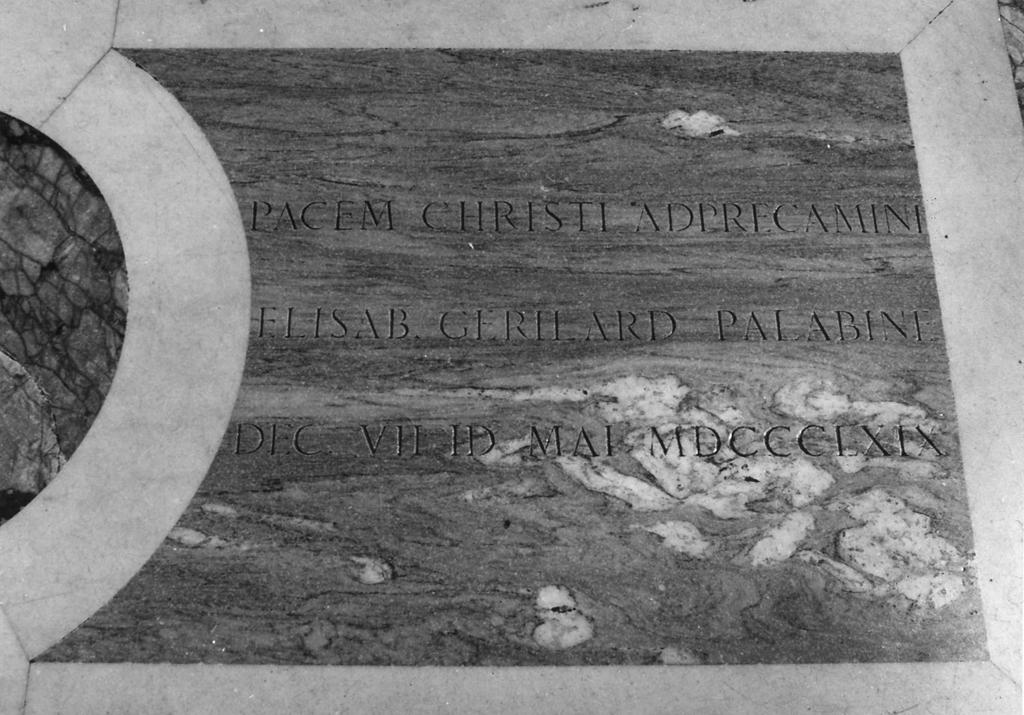 lapide tombale - bottega romana (sec. XIX)