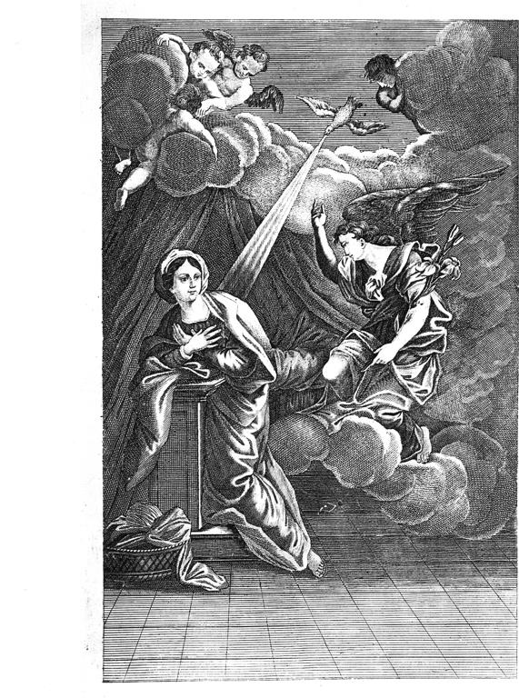 Annunciazione (stampa, elemento d'insieme) di Passeri Giuseppe (attribuito) (sec. XIX)