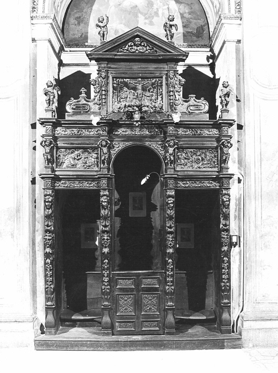 confessionale, opera isolata - bottega lombarda (sec. XVII)