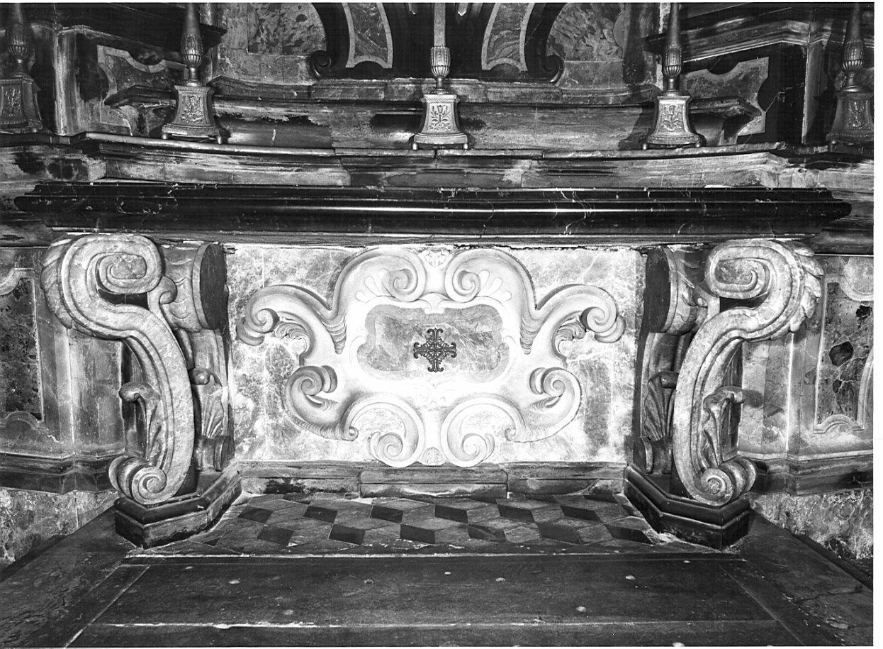 paliotto, elemento d'insieme di Quadrio Giuseppe (primo quarto sec. XVIII)