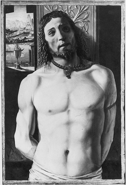 Cristo alla colonna, Cristo alla colonna (dipinto, opera isolata) di Bramante Donato (sec. XV, fine)