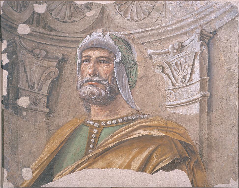 Uomini d'arme, Ciclo di affreschi di casa Panigarola (dipinto, ciclo) di Bramante Donato (sec. XV)
