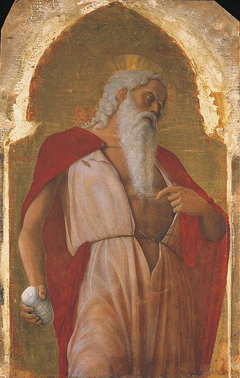 San Girolamo, San Girolamo (scomparto di polittico, elemento d'insieme) di Mantegna Andrea (sec. XV)