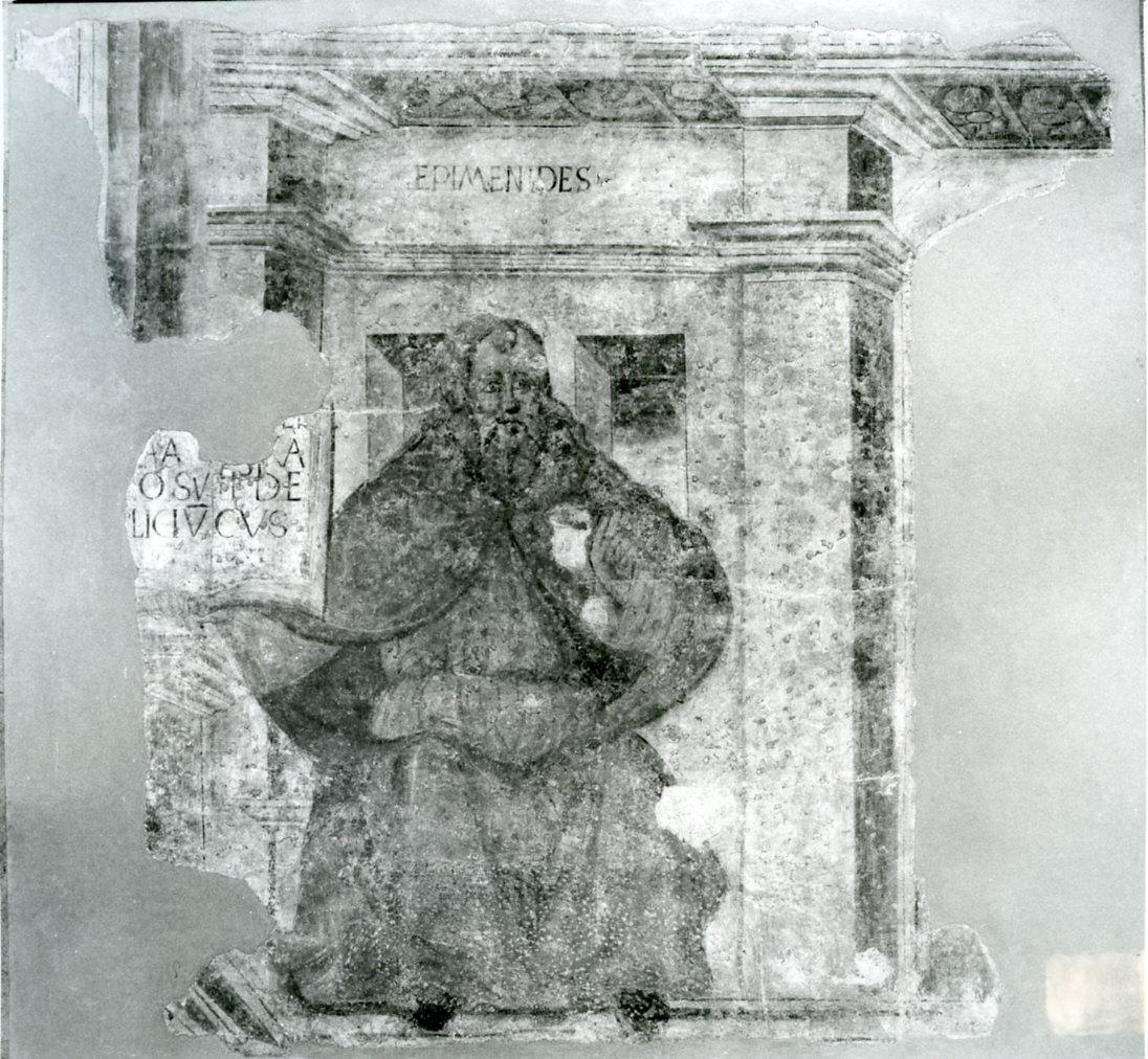 Epimenide (dipinto murale, frammento) di Bramante Donato (sec. XV)