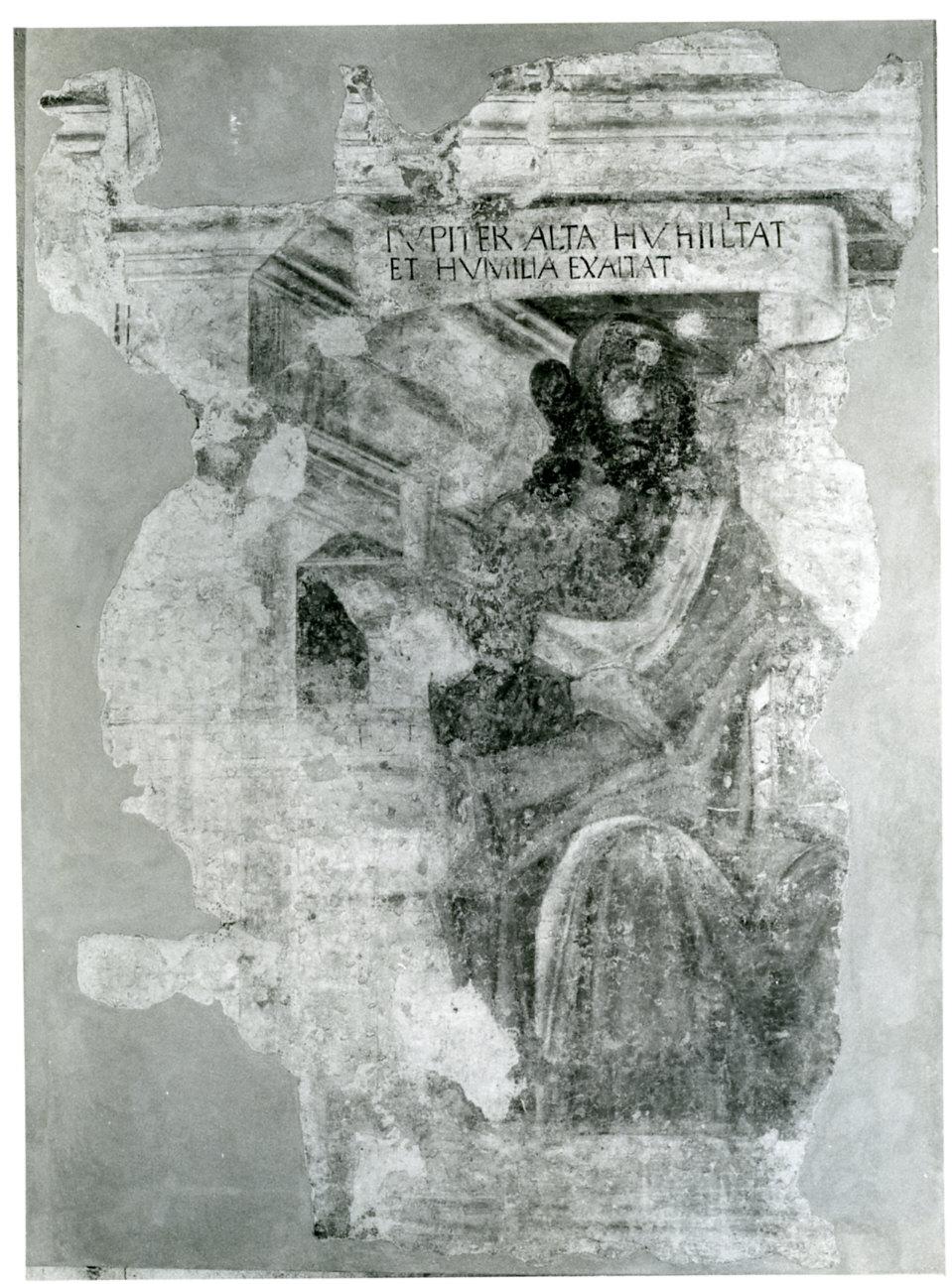 figura maschile (dipinto murale, frammento) di Bramante Donato (sec. XV)