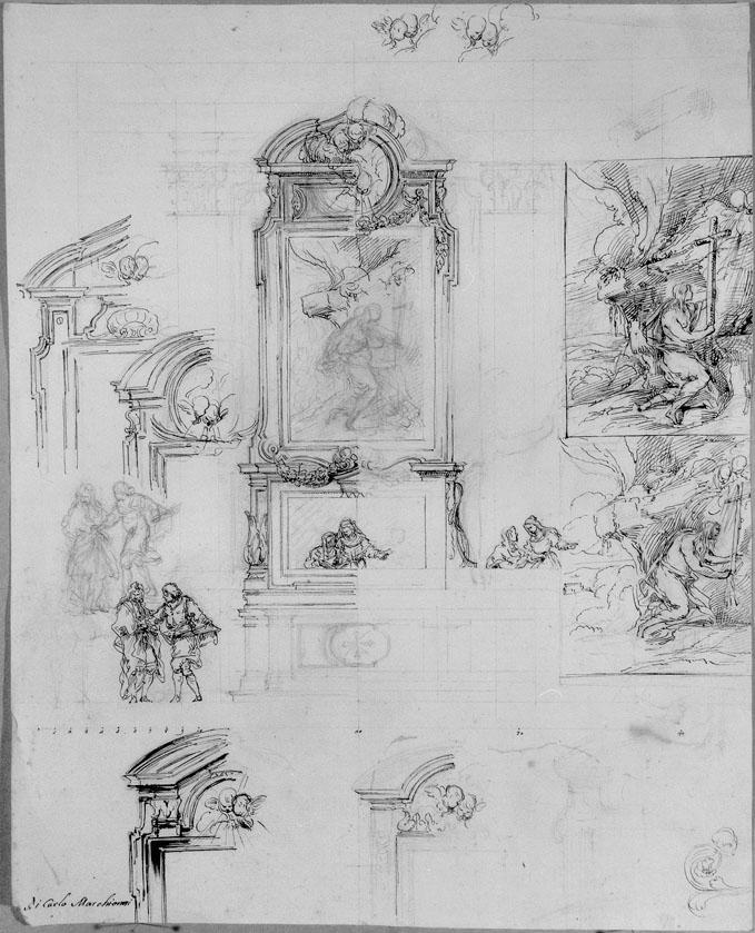 studio di altare (disegno) di Marchionni Carlo (sec. XVIII)