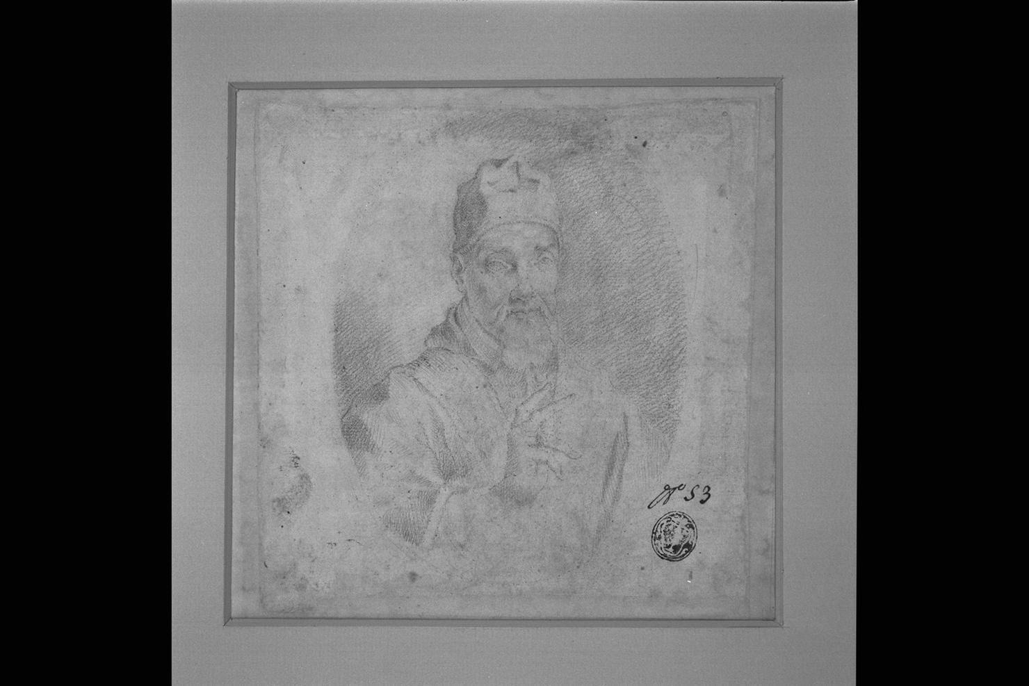 ritratto di papa Urbano VIII (disegno) di Abbatini Guido Ubaldo (sec. XVII)