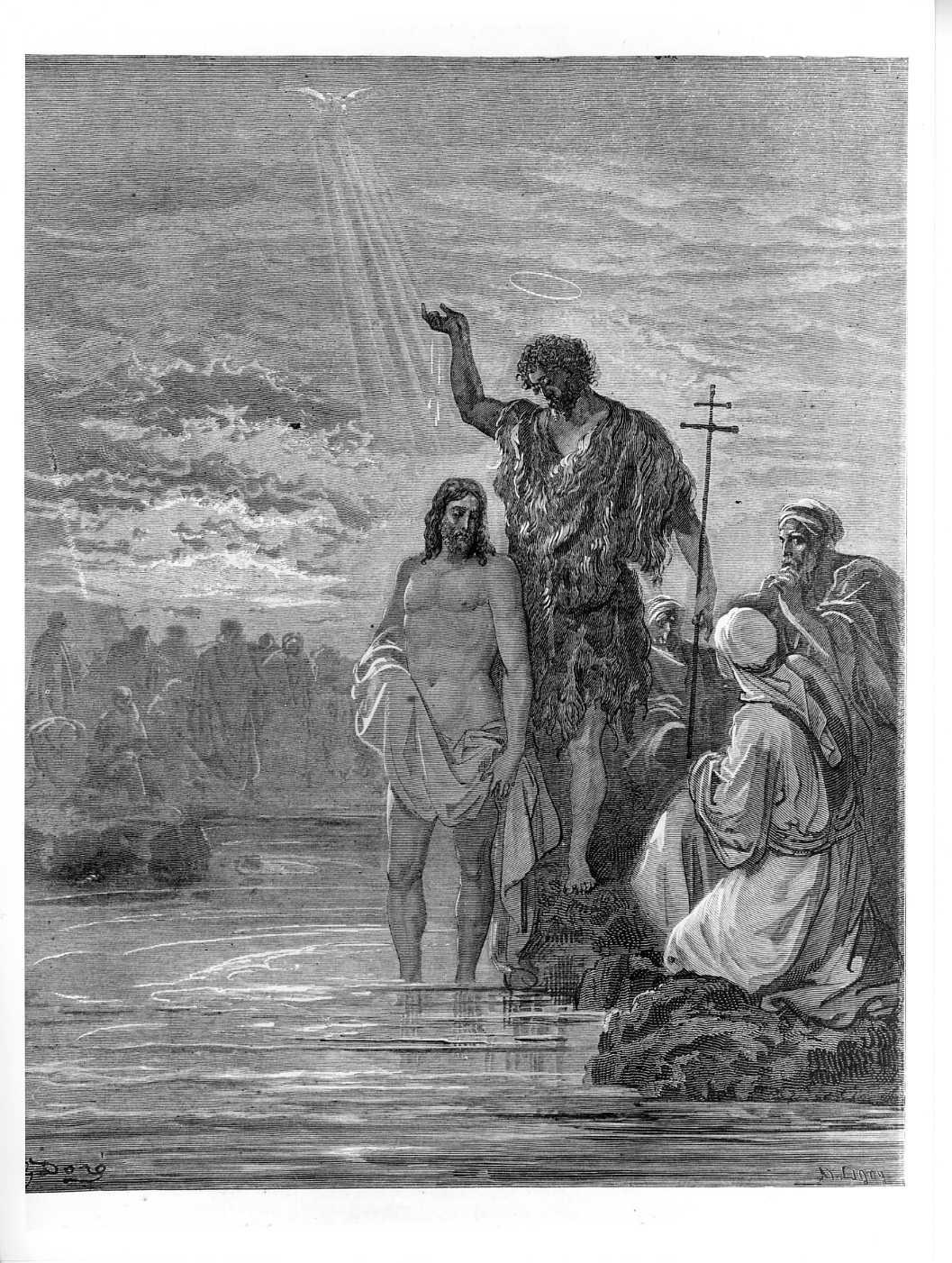 battesimo di Cristo (stampa) di Doré Gustave (attribuito), Ligny A. J (attribuito) (sec. XIX)