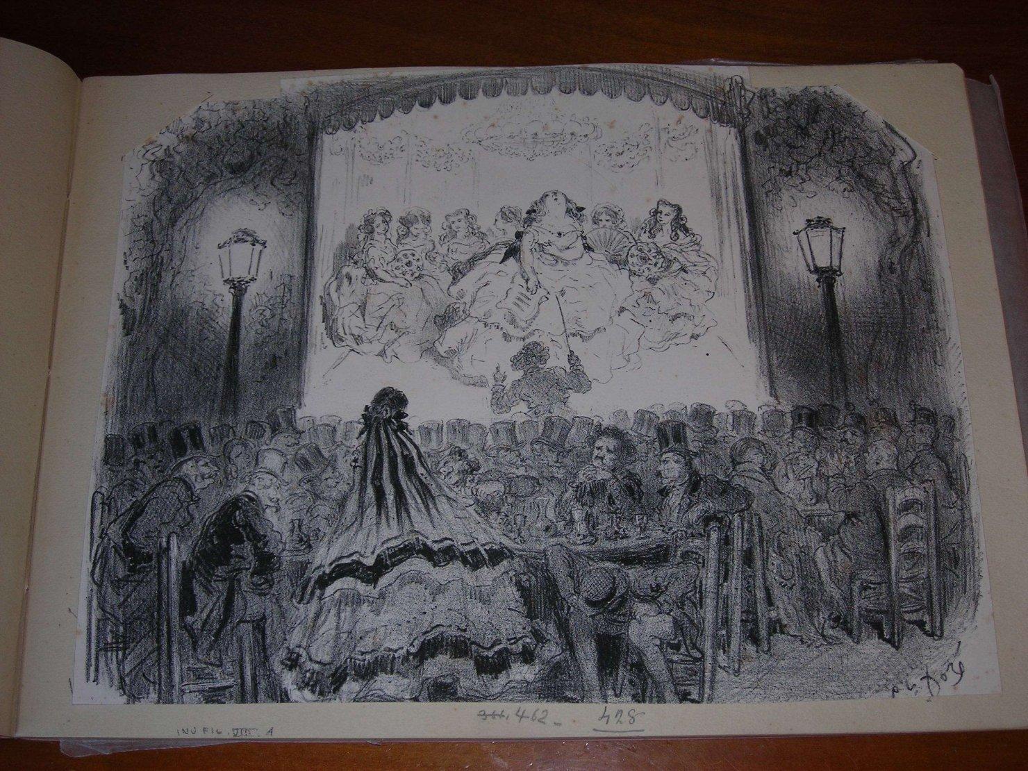 teatro all'aperto (stampa) di Doré Gustave (sec. XIX)
