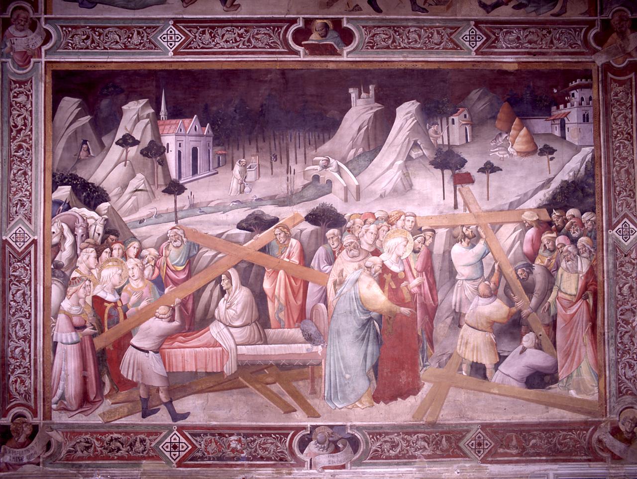 ritrovamento della vera croce e riconoscimento della vera croce (dipinto) di Gaddi Agnolo (e aiuti) (sec. XIV)