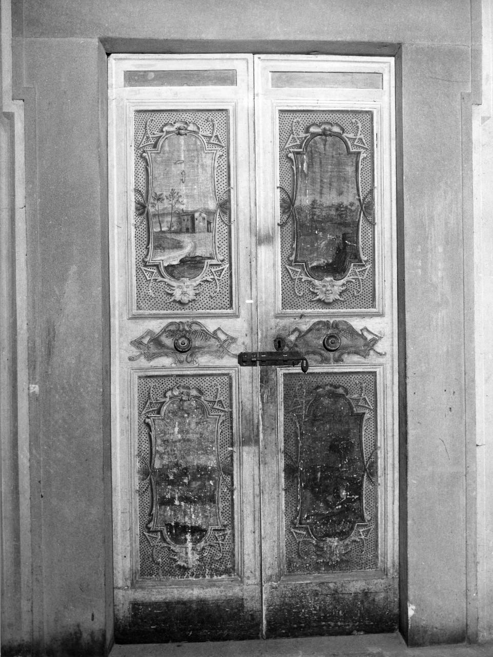 paesaggio (porta - a due battenti) - bottega toscana (sec. XVIII)