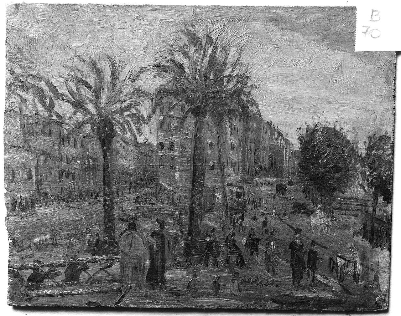 veduta di città (dipinto) - ambito romano (sec. XIX, ultimo quarto)