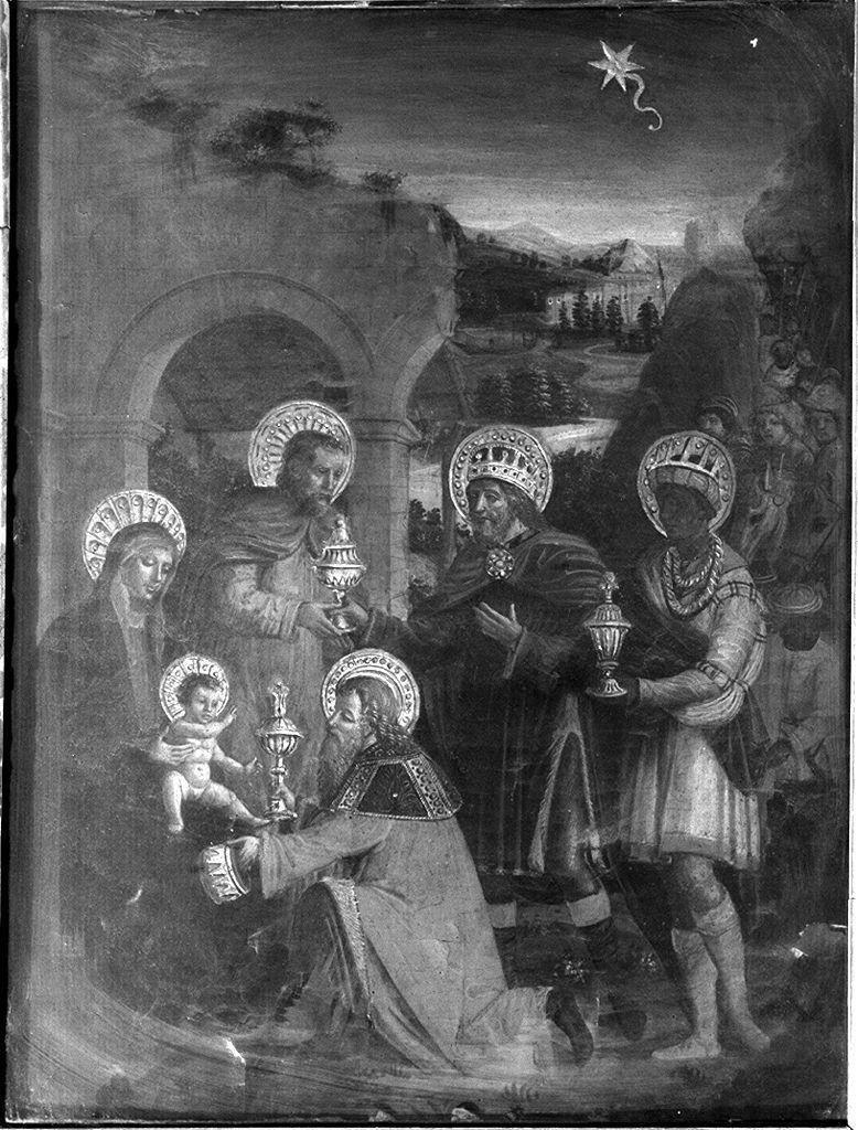 adorazione dei Magi (dipinto) di Ambrogio da Fossano detto Bergognone (maniera) (primo quarto sec. XVI)
